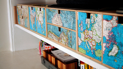 Decoupage on pinterest decoupage furniture maps and for Cadlow mural world
