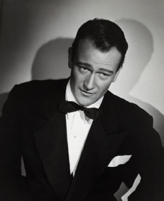 John Wayne Wearing a Tuxedo