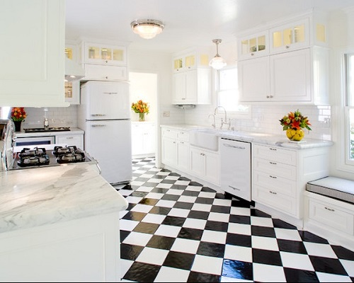 Checkered floor 7