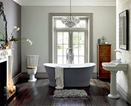 Bathroom with fireplace 1