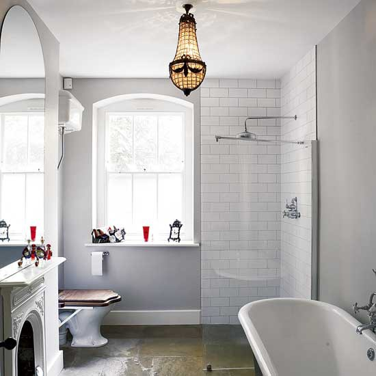 Bathroom with fireplace 2