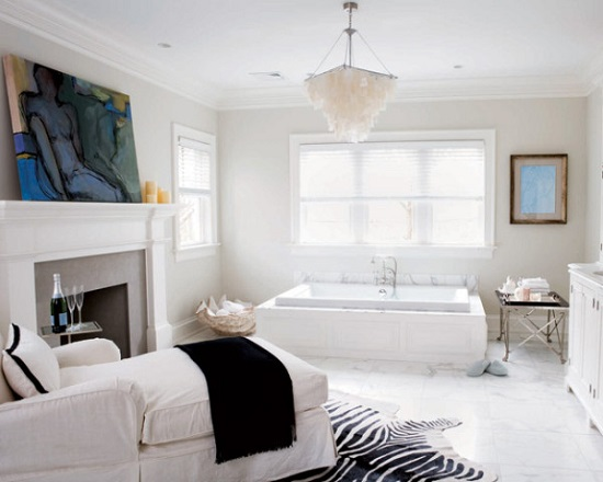 Bathroom with fireplace 6