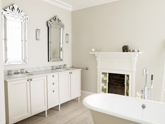 Bathroom with fireplace 7