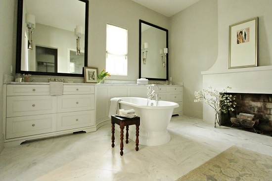 Bathroom with fireplace 9